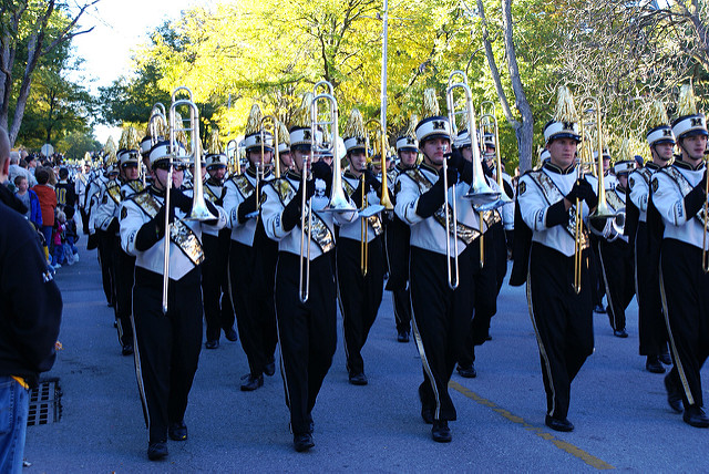 University of Missouri band marching